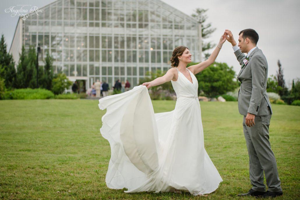Roger Williams Botanical Garden Wedding Providence Ri Christine