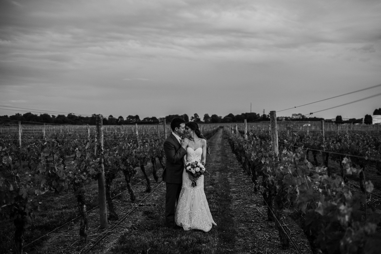 best wedding photographer newport vineyards emotional