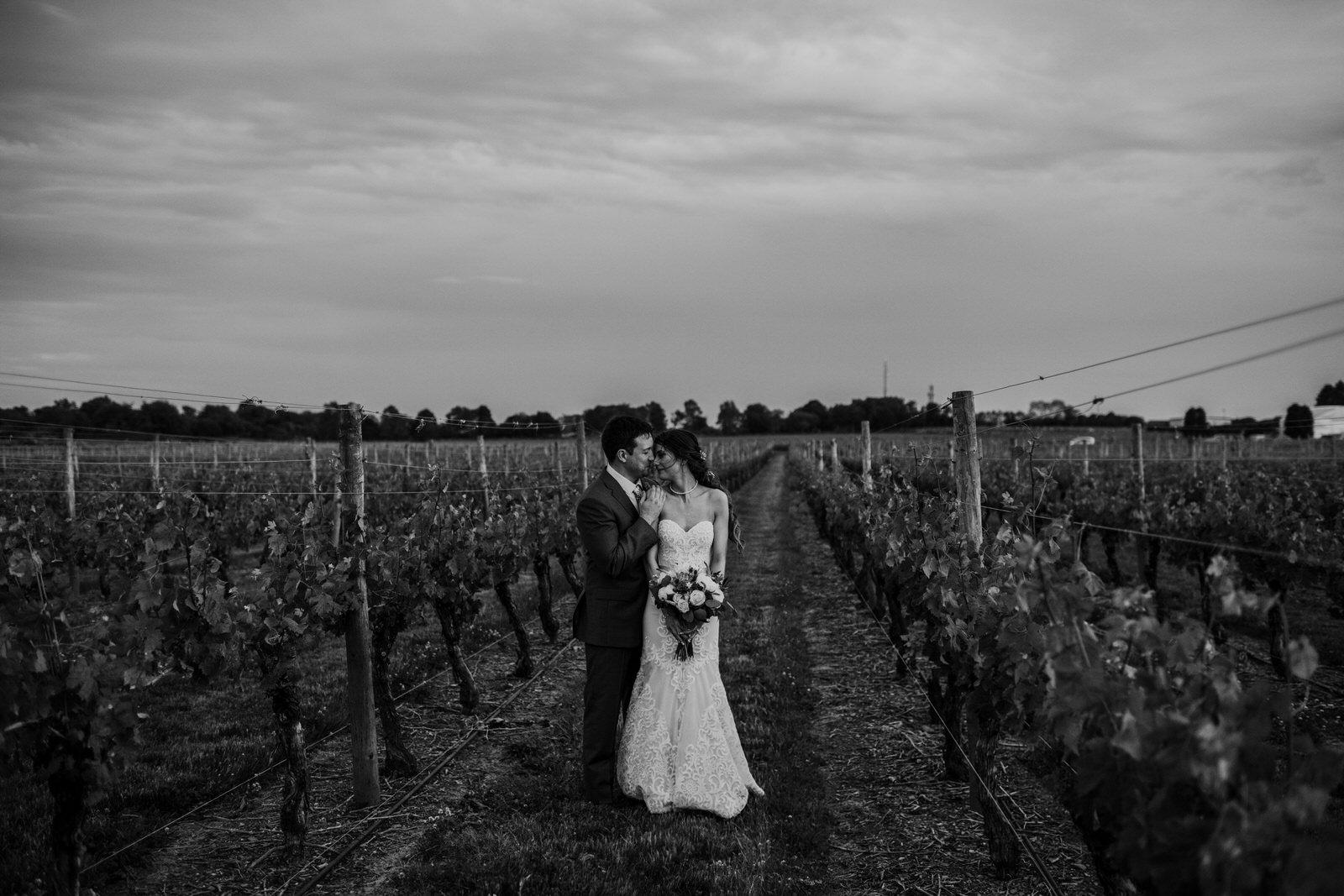 best wedding photographer newport vineyards emotional