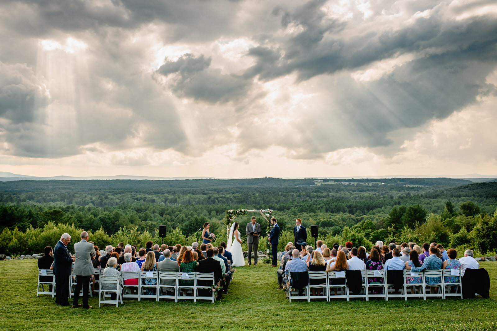 outdoor ceremony during wedding